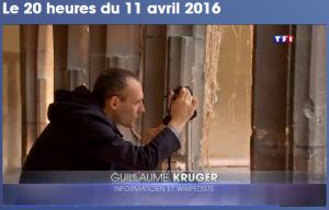 TF1 journal de 20h du 11 avril 2016 Guillaume Kruger ©TF1 avril 2016
