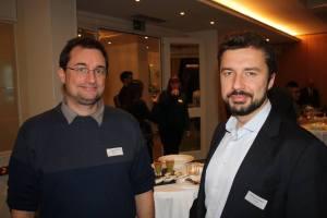 Frédéric Schütz (Racosh) et Stéphane Coillet-Matillon (Racosh) à l'Hôtel de la Paix, Lausanne 25 nov. 2015 ©Facebook