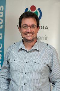 Frédéric Schütz, membre fondateur de Wikimedia Suisse en novembre 2012. CC BY-SA 3.0 Ludovic Péron aka Ludo29.