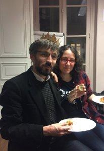 Rémi Mathis et Marie-Alice Gariel-Mathis ©2017 Twitter (auteur présumé: Emeric Vallespi) source: https://twitter.com/evallespi/status/819991844541132800/photo/1