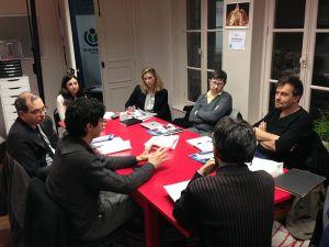 Conseil scientifique de Wikimédia France, première et dernière réunion (15 janvier 2015). Photo : Jean-Philippe Kmiec, Manager of Communication and Events, Wikimédia France - Wikimedia Commons CC BY-SA 4.0 (https://archive.ph/CFScV)